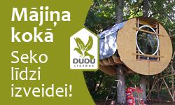 DUDU ligzdas - mājiņas kokos